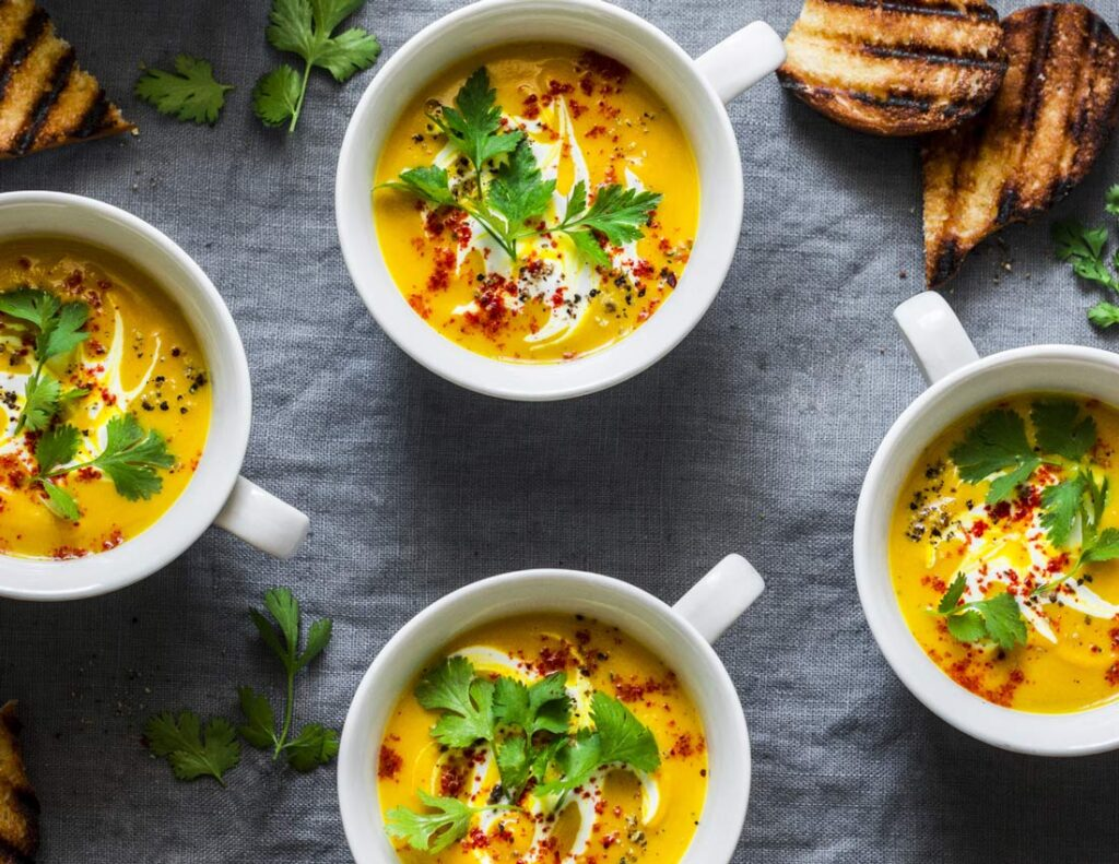 Sweet potato, coconut soup