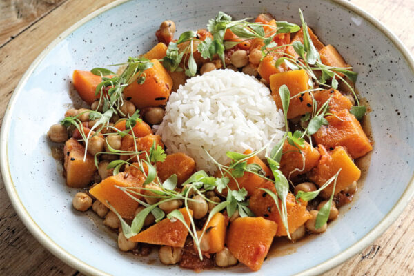Vegetarian dinner recipes - Butternut squash and chickpea stew