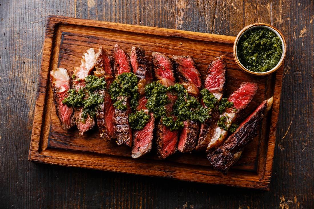 Steak with chermoula