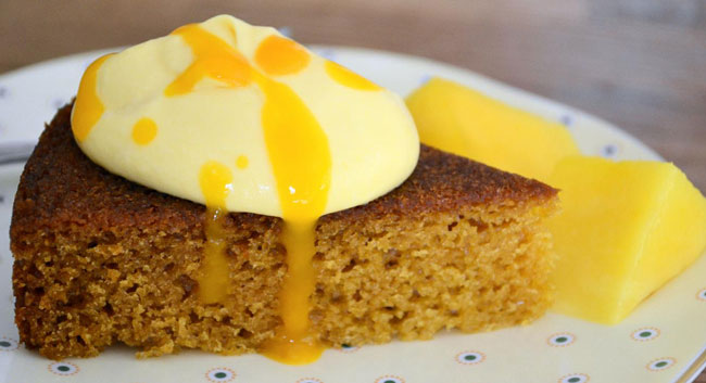 Alia Faisal's mango sponge cake
