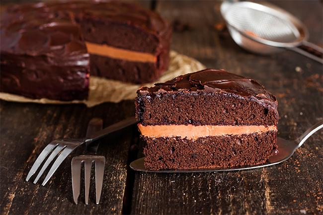 Chocolate and pumpkin cake