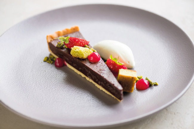 Dark Belgian-chocolate tart