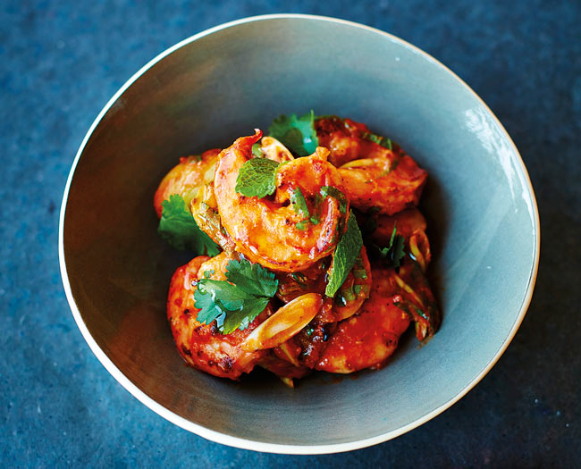 Prawn, chilli and potato salad