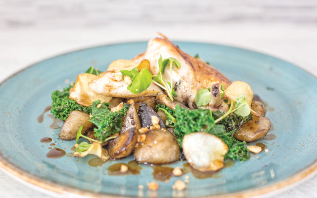 Chicken with jerusalem artichokes