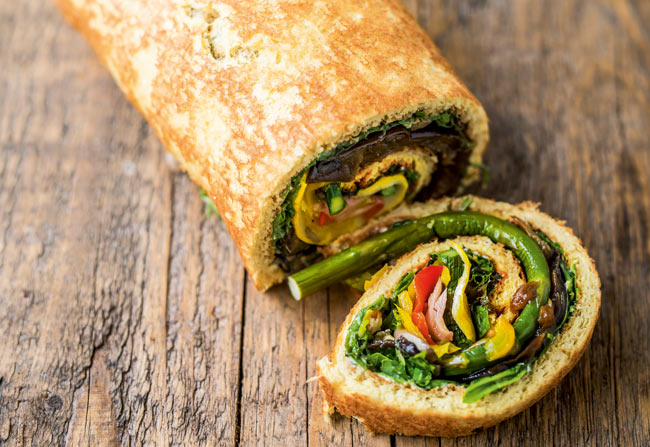 Savoury swiss roll