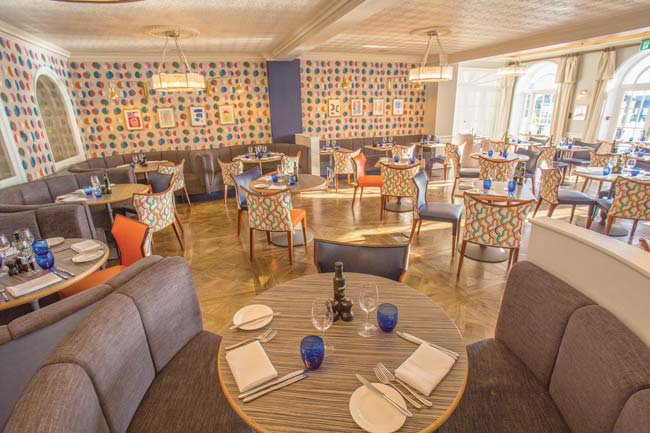Upper Deck Bar and Restaurant at Christchurch Harbour Hotel