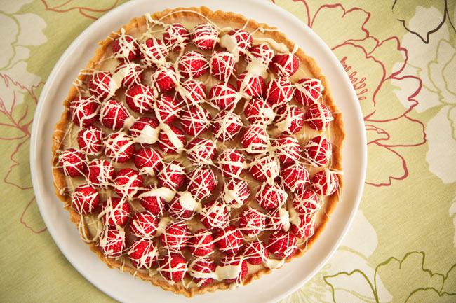 white choc tart