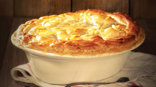 Rabbit and ham pie