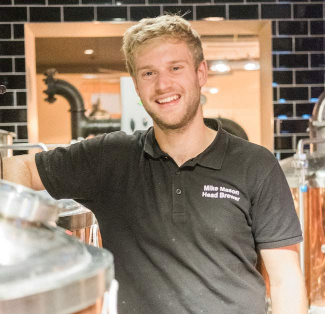 Head brewer Driftwood Spars Mike Mason