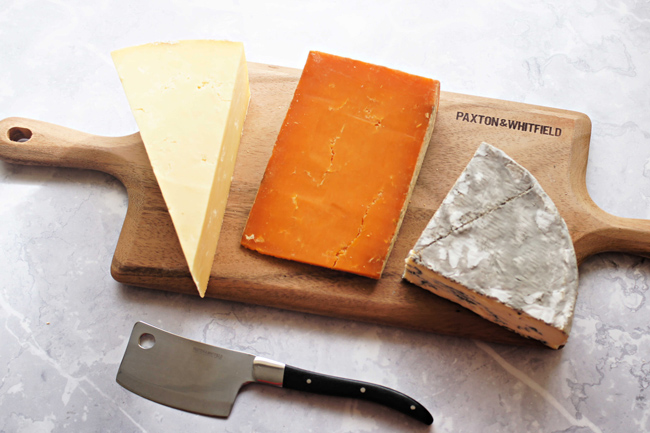 Paxton & Whitfield cheese board