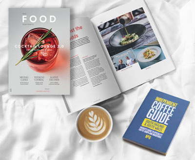 Magazine and coffee guide subscrption