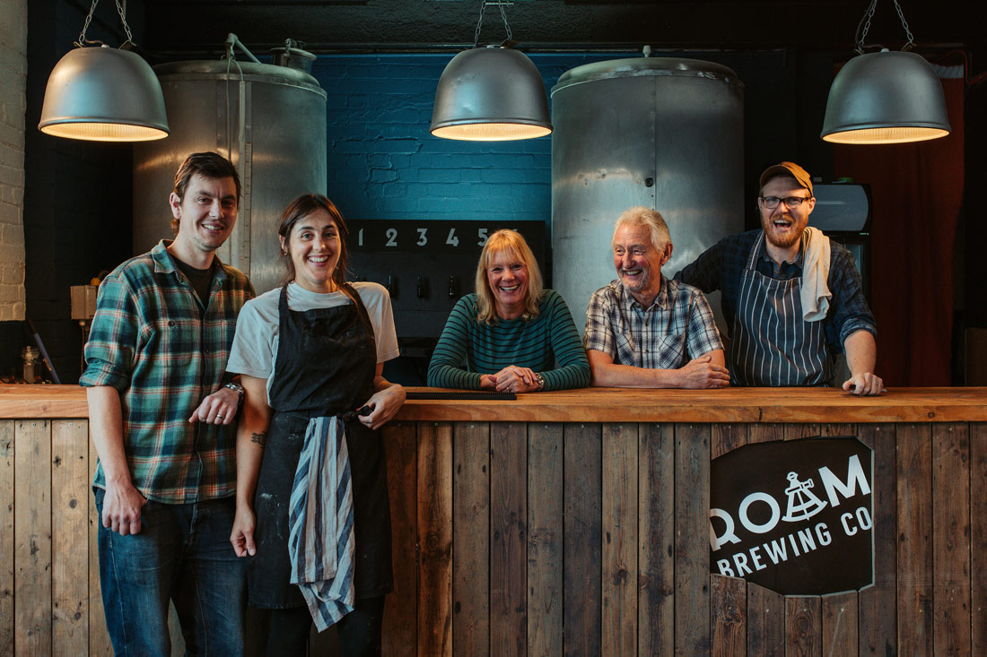 Team at Roam Brewery Co microbrewery and bakery in Plymouth
