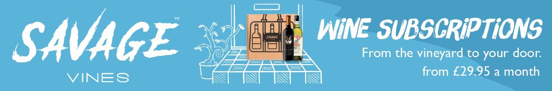 Savage Vines Wine Subscriptions banner
