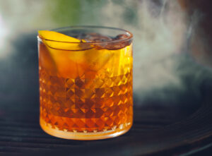 Dirty Cider and Smoked Orange cocktail