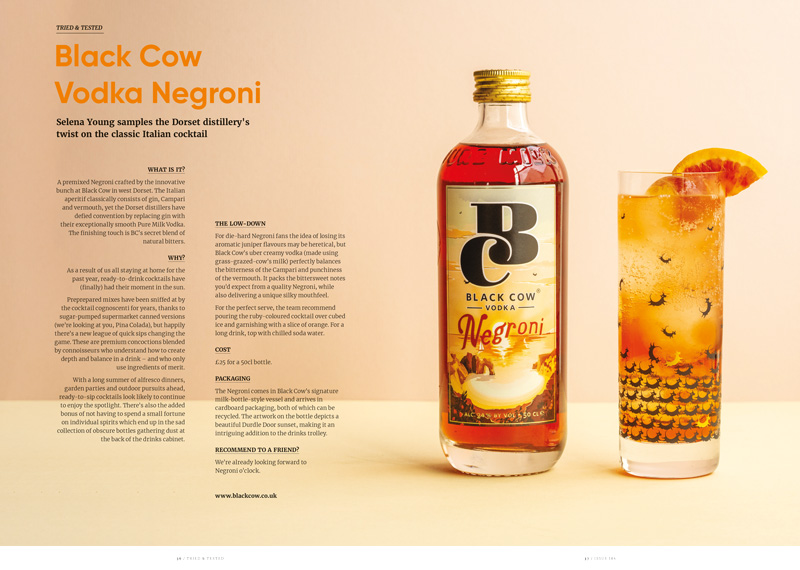 Tried and Tested, Black Cow Negroni