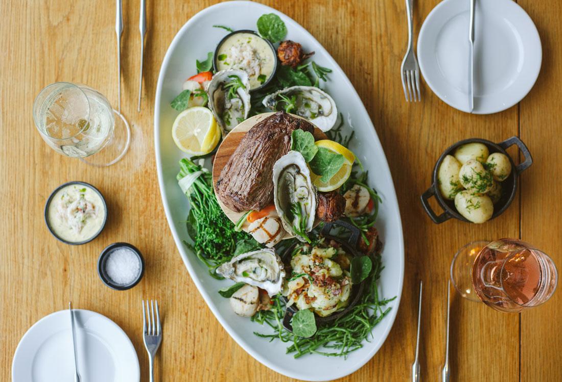 Cornish seafood chateaubriand