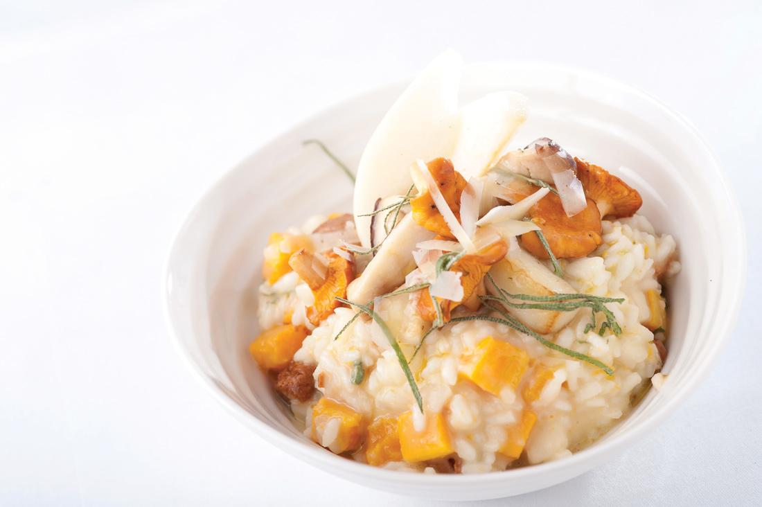 Squash and sage risotto