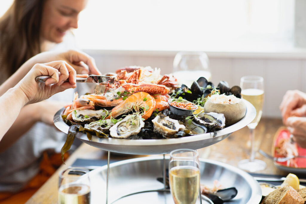 Dartmouth staycation guide - seafood platter at Platform 1